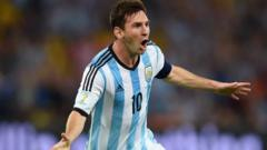 Lionel Messi strike doubles Argentina lead