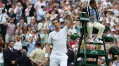 Andy Murray waved to crowd on centre court at Wimbledon