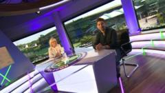 Ricky in BBC Sport studio