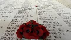 Monument for soldiers killed during World War One