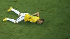 Neymar was injured against Columbia