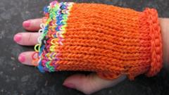 Glove made from loom bands
