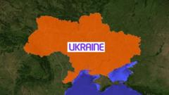 A map of Ukraine
