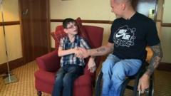 Kieran gets surprise visit from David Weir