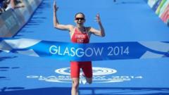 Jodie Stimpson wins the Glasgow triathlon event