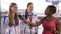 Ayshah talks to commonwealth games shooting athletes and sisters Seonaid and Jen McIntosh