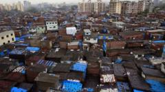 Slums in Mumbai, India