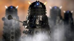 a group of Daleks