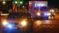 An ambulance takes the first British person to contract Ebola to hospital.