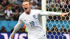 Wayne Rooney celebrates