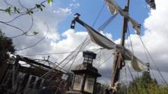 Tim Jones' pirate ship in Felixstowe