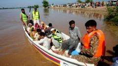 Flood victims in Pakistan.