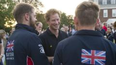 Prince Harry with servicemen