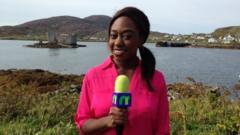 Ayshah on the Isle of Barra