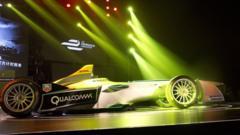 Formula e electric car