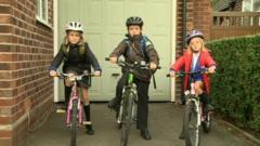Children on their bikes