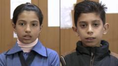 Syrian girl and boy
