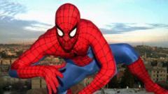 Man dressed as Spiderman