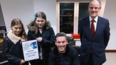 Children with MP Nick Gibb.