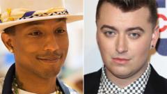 Pharrell Williams and Sam Smith