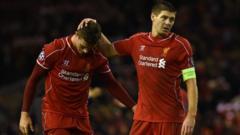 Jordan Henderson and Steven Gerrard