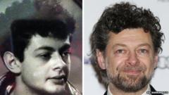 Andy Serkis plays Gollum in the Lord of The Rings