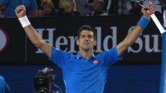 The moment Novak Djokovic beats Andy Murray
