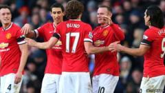 Manchester Utd team players celebrating