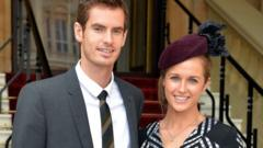 Andy Murray and his fiancee Kim Sears