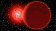 Scholz's star - shown in this artist's impression - is currently 20 light-years away. But it once came much closer