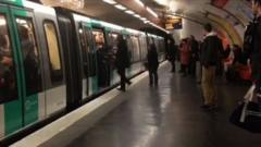 Man prevented from boarding the Paris Metro