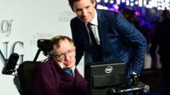 Stephen Hawking and Eddie Redmayne