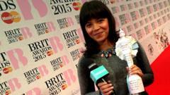 Leah Boleto at the Brits 2015