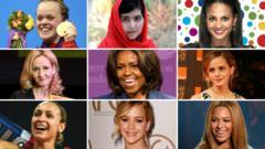 A montage of famous faces