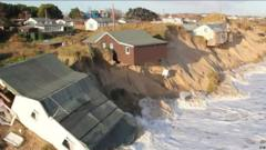 Homes can slip into the sea if coastlines crumble