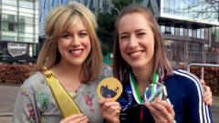 Jenny Lawrence and Lizzy Yarnold