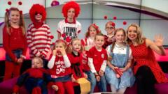 Kids from Branwood School join Hayley for Red Nose Day 2015 live on Newsround
