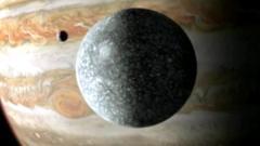 Ganymede and Jupiter