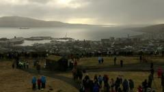 View of the eclipse from the Faroe Islands