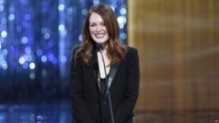 Oscar winning actress Julianne Moore was unhappy with her freckles growing up.