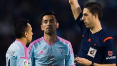 Orellana was shown the red card