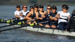 Oxford Women's crew in training