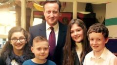 David Cameron, Ayshah Tull and children