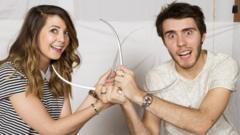 Zoe Sugg and Alfie Deyes