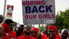 Protest sign saying Bring Back Our Girls