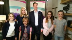 Kids speak to Nick Clegg