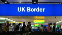UK Border Control sign at airport