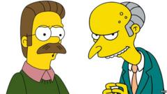 Ned Flanders and Montgomery Burns