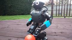 Football playing robot