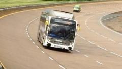 Reading gas-powered bus attempts record